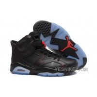 Big Discount! 66% OFF! Air Jordan 6 Retro All Black With Speckle For Sale Cheap Price