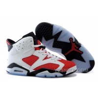 Big Discount! 66% OFF! Air Jordan 6 (VI) Retro White/Carmine-Black Cheap For Sale