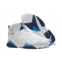 Big Discount! 66% OFF! Air Jordan 7 (VII) White/French Blue-Flint Grey For Sale