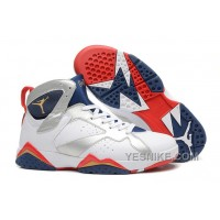 Big Discount! 66% OFF! Air Jordan 7 White/Metallic Gold-Midnight Navy/True Red For Sale