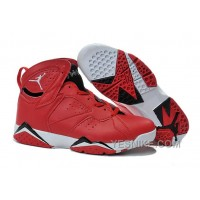 Big Discount! 66% OFF! 2015 Air Jordan 7 Red Black White Shoes For Sale