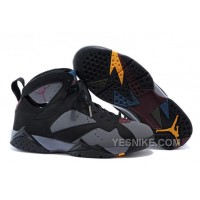 Big Discount! 66% OFF! Air Jordan 7 Retro Black/Light Graphite-Bordeaux Sale For Mens Online