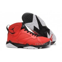 Big Discount! 66% OFF! Air Jordan 7 Retro Red And Black Mens Online For Sale Cheap Price