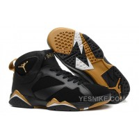 "Big Discount! 66% OFF! Air Jordan 7 Retro ""Gold Medal"" Black/Metallic Gold-Sail For Sale"