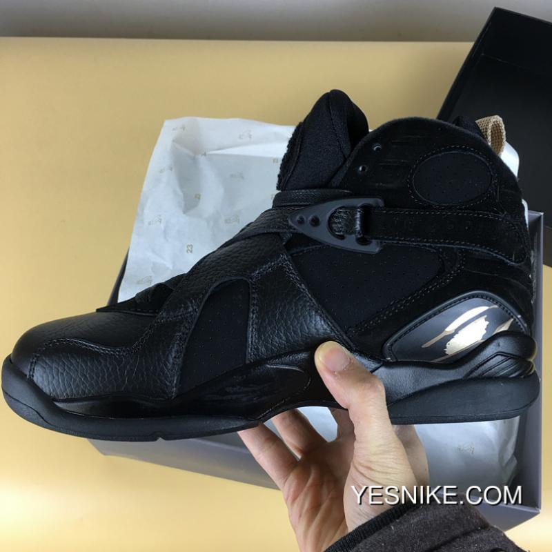 100% authentic 658e1 8c52c Free Shipping Air Jordan 8 Black Gold OVO AA1239-045