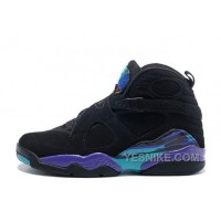 Big Discount! 66% OFF! Air Jordan 8 Retro Black/Dark Concord-Anthracite-Aqua Tone For Sale
