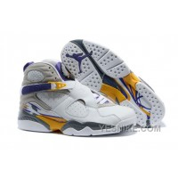 "Big Discount! 66% OFF! Air Jordans 8 Retro ""Kobe Bryant Lakers Home"" PE For Sale"