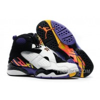 "Big Discount! 66% OFF! Air Jordan 8 Retro ""Three-Peat"" White/Infrared 23-Black-Bright Concord"