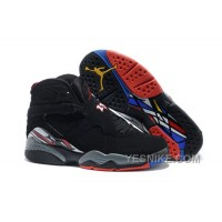 "Big Discount! 66% OFF! Air Jordan 8 Retro ""Playoffs"" Black/True Red-White Mens Online Sale"