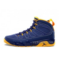 "Big Discount! 66% OFF! Air Jordan 9 Retro ""Calvin Bailey"" Deep Royal/University Gold-White For Sale"