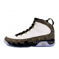 "Big Discount! 66% OFF! Air Jordan 9 Retro ""Doernbecher"" White/Metallic Gold-Black For Sale Online"