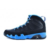 "Big Discount! 66% OFF! Air Jordan 9 Retro ""Slim Jenkins"" Black/Matte Silver-University Blue For Sale"