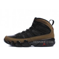 "Big Discount! 66% OFF! Air Jordan 9 Retro ""Olive"" Black/Light Olive-Varsity Red For Sale Online"