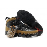 "Big Discount! 66% OFF! Air Jordan 9 (IX) ""Olive"" Black/Light Olive-Varsity Red For Sale"