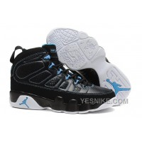 Big Discount! 66% OFF! Air Jordan 9 Black/Photo Blue-White Online For Sale