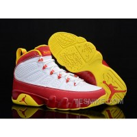 "Big Discount! 66% OFF! Buy New Air Jordan 9 ""Bentley Ellis"" White/Dark Cayenne-University Gold"