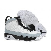 "Big Discount! 66% OFF! Air Jordan 9 ""Barons"" White/Black-Wolf Grey For Sale Cheap Mens"