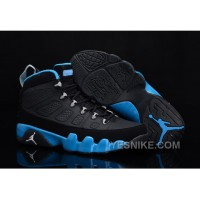 "Big Discount! 66% OFF! Buy New Air Jordan 9 ""Slim Jenkins"" Black/Metallic Silver-University Blue"