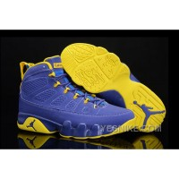 "Big Discount! 66% OFF! Buy New Air Jordan 9 ""Calvin Bailey"" Deep Royal/University Gold-White Online"