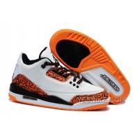 Big Discount! 66% OFF! Air Jordan 3 Enfant Blanc/Orange