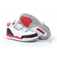 Big Discount! 66% OFF! Air Jordan 3 Enfant Blanc/Noir/Rouge