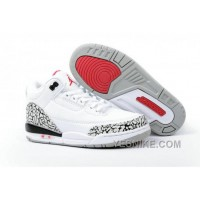 Big Discount! 66% OFF! Air Jordan 3 Enfant Blanc/Noir