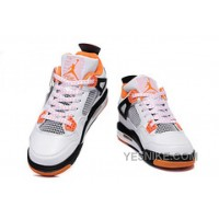 Big Discount! 66% OFF! Air Jordan 4 Enfant Blanc/Orange
