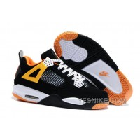 Big Discount! 66% OFF! Air Jordan 4 Enfant Noir/Orange