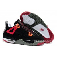 Big Discount! 66% OFF! Air Jordan 4 Enfant Noir/Rouge