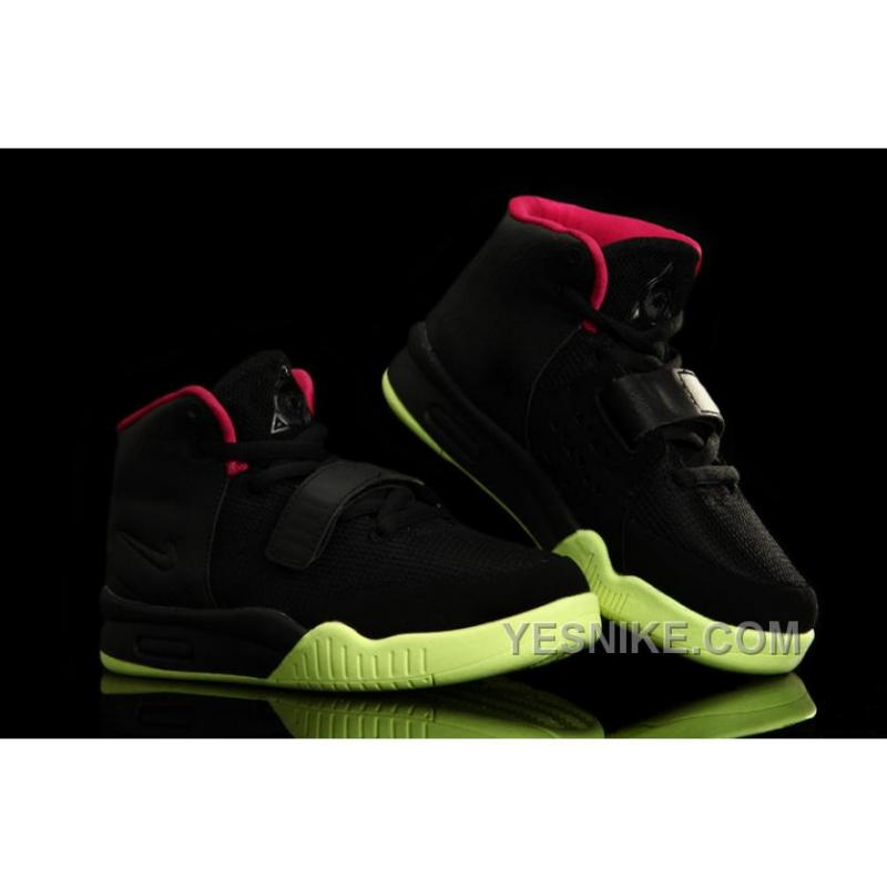 low priced e4bff c6e97 Nike Air Yeezy 2 Enfant Noir Rouge  ...