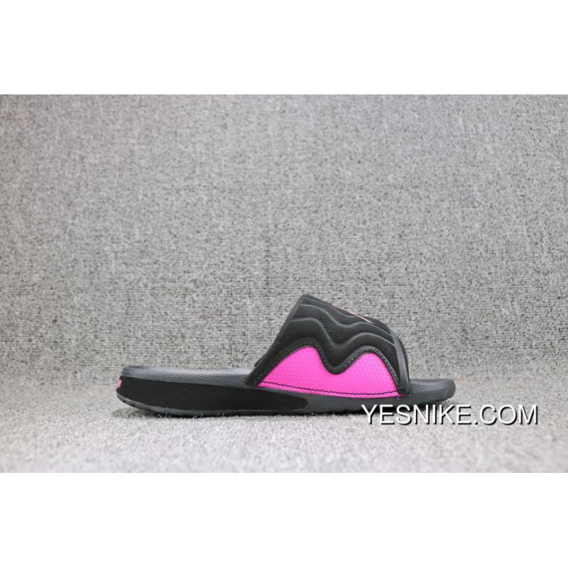 c512c424b77 ... Jordan HYDRO Sandal Air 4 705175-009 Black And Pink Women Shoes Top  Deals ...
