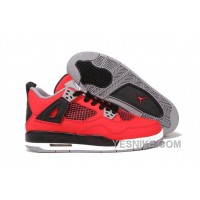 Big Discount! 66% OFF! Air Jordan 4 Retro Fire Red Nubuck Gs Women Shoes 308497-603