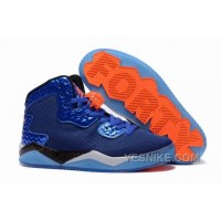 "Big Discount! 66% OFF! Jordan Air Spike 40 Forty PE ""Game Royal"" Game Royal/Total Orange-White-Black For Sale CJ4HW"
