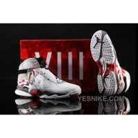 Big Discount! 66% OFF! Air Jordan 8 White Blue Red Grey Iy2Re