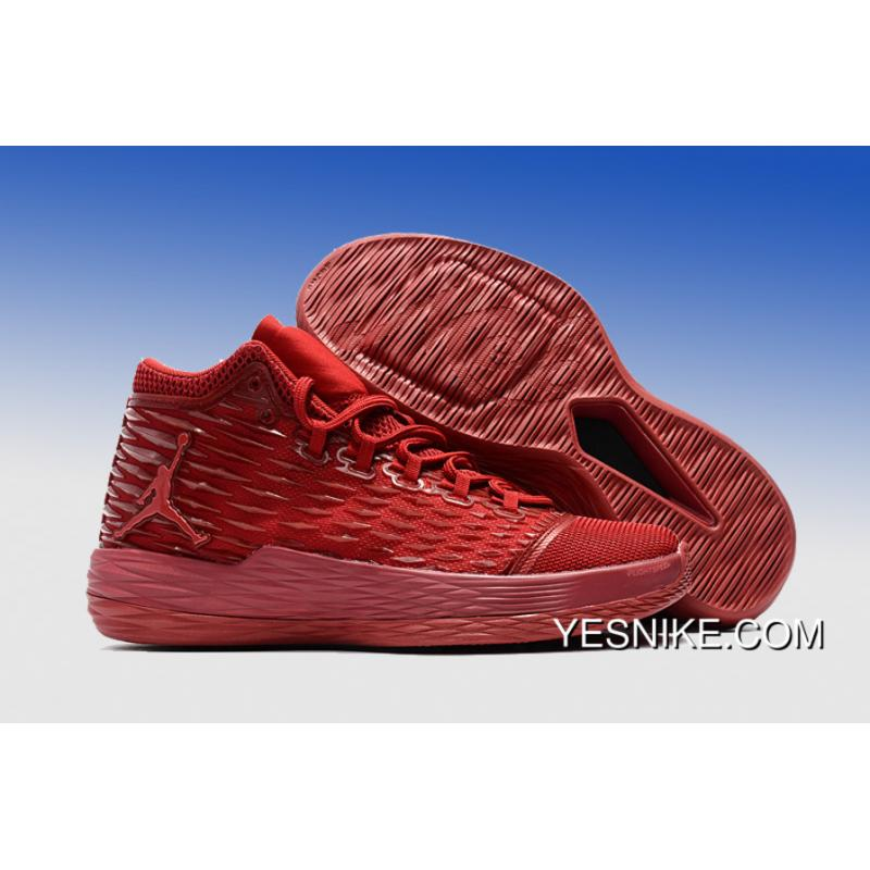 1ecb3d473cf014 New Jordan Melo M13 All-Red 2017 Release Latest ...