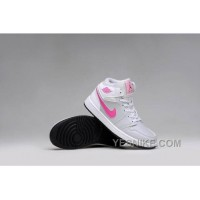 Big Discount! 66% OFF! Women Air Jordan 1 GS Grey Pink White For Sale