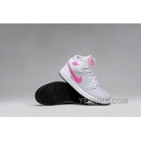 Big Discount! 66% OFF! Girls Air Jordan 1 Grey Pink White Shoes For Sale