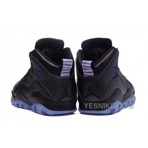 "Big Discount! 66% OFF! 2016 Air Jordan 10 GS ""Paris"" Black/Fierce Purple-Black"