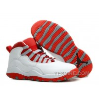 Big Discount! 66% OFF! Air Jordans 10 Retro White/ Varsity Red For Sale