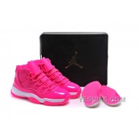 "Big Discount! 66% OFF! 2016 Girls Air Jordan 11 ""Pink Everything"" Pink White Shoes For Sale Online KNwws"