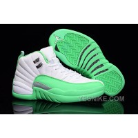 Big Discount! 66% OFF! 2016 Air Jordan 12 GS White Green For Sale