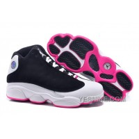 "Big Discount! 66% OFF! Girls Air Jordan 13 Retro GS ""Hyper Pink"" Black/Hyper Pink-White For Sale"