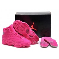 Big Discount! 66% OFF! 2015 Air Jordan 13 GS All-Pink Cheap For Sale Online
