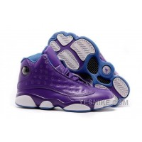 "Big Discount! 66% OFF! 2016 Girls Air Jordan 13 ""Hornets"" Purple/Orion Blue For Sale"