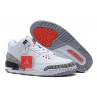 Big Discount! 66% OFF! Air Jordans 3 Retro '88 White/Fire Red-Cement Grey-Black