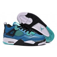 "Big Discount! 66% OFF! Air Jordans 4 Retro ""Teaser"" Teal/Black-White For Sale"