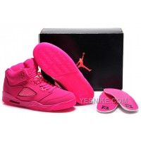 Big Discount! 66% OFF! Girls Air Jordan 5 All-Pink Shoes For Sale Online