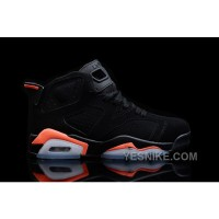 "Big Discount! 66% OFF! 2016 Girls Air Jordan 6 ""Black/Infrared23″ For Sale HAcAk"