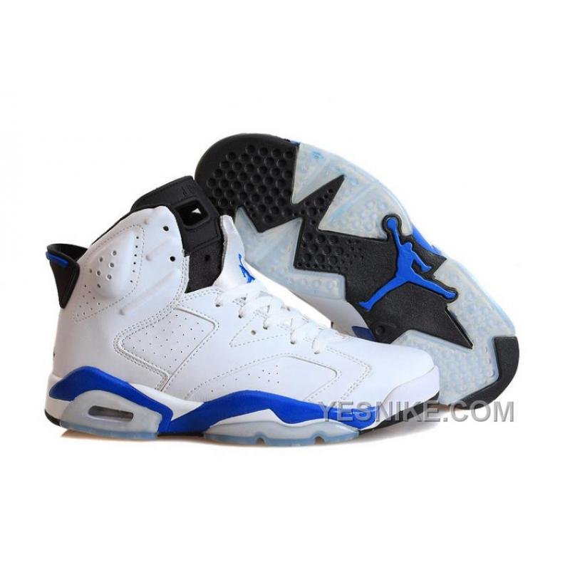 "257c436e95bd Big Discount! 66% OFF! Air Jordans 6 Retro ""Sport Blue"" White Sport ..."