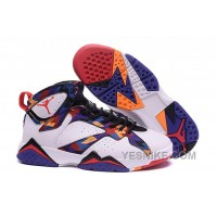"Big Discount! 66% OFF! 2016 Air Jordan 7 GS ""Nothing But Net"" White/University Red-Black-Bright Concord Basketball Shoes"